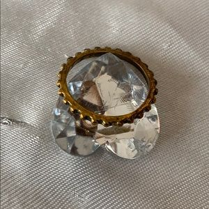 Gold tone gear ring